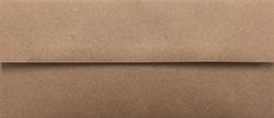 """Picture of #10 100% Recycled Arrow™ Kraft (Brown Bag Kraft) Double Side Seam 2 1/8"""" Square Flap"""